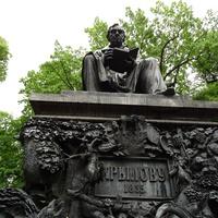 Летний сад. Памятник Крылову.