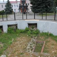 Елец. Музеефицированный фундамент церкви Вознесения.