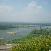 ЖД мост через реку Белая