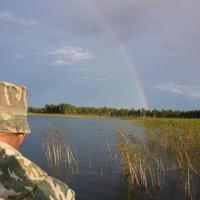 радуга на рыбалке