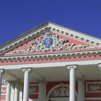 Музей-усадьба Кусково - Вензель над входом в дворец.