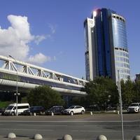 Москва-Сити - Торгово-пешеходный мост Багратион с Башней 2000
