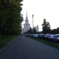 Воробьевы горы - Аллея к зданию МГУ