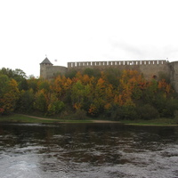 Ивангородская крепость, вид с Нарвской стороны