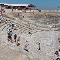 Античный город Курион. Театр греко-римской эпохи, построенный во II веке до н.э.
