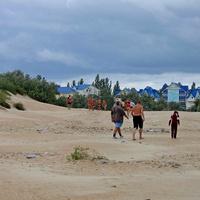 Дорога в дюнах (с пляжа). 13.09.2007г.