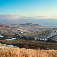 Транссибирская магистраль в районе села Шивия-Наделяево. Река Куэнга