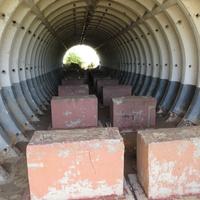 Бункер -хранилище на заброшенной позиции ПВО