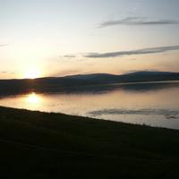 Закат на озере Николаевское