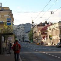 Улица Солянка, колокольня храма Рождества Пресвятой Богородицы