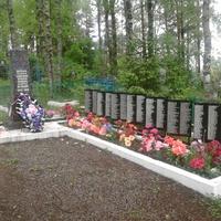 Лутовёнка, деревенское  кладбище, воинское  захоронение.