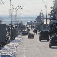 Терновка.Улица Пушкина.Вид на запад.Декабрь 2016 года.(зум)