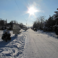 Терновка.Улица Пушкина.Вид на запад.Декабрь 2016 года.
