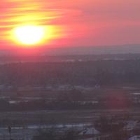 Терновка.Закат.Декабрь 2016 года.(зум)