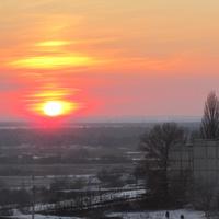 Терновка.Закат.Декабрь 2016 года.