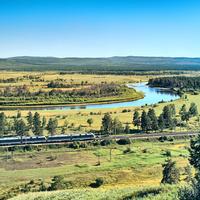 Транссибирская магистраль. 12 километров восточнее посёлка Бада