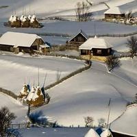 Село під білою ковдрою
