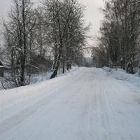 Дорога в Голубове зимой