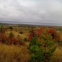 Золотая осень разгулялась( вид с.Подлесное)