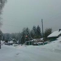 Зимний посёлок.