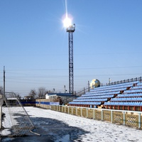 Зимой стадион отдыхает