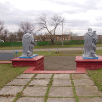 Меморіал пам'яті воїнам, загиблим в 2 світовій війні.
