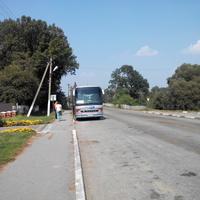 Любар. Зупинка хмельницького автобуса.