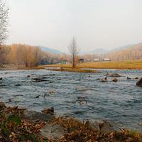 Село Средняя Кия. Река Кия