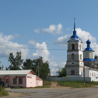 село  Яжелбицы, церковь святого Александра  Невского, постройки 1805 года.