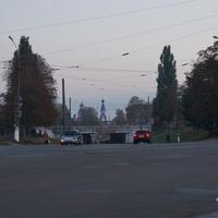 Путепровод железнодорожных путей станции Конотоп, церковь Всех Святых