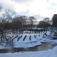 Полежаевский парк, река Дудергофка