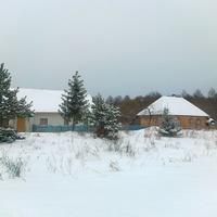 Домики зимой