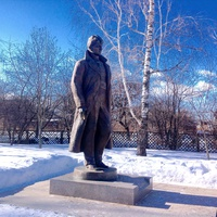Памятник Сергею Есенину в селе Константиново.