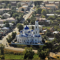 Вид на Никольский собор и улицу К. Маркса с высоты птичьего полета
