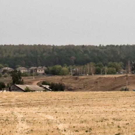 вид с запада на центр поселка