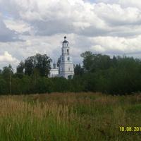 Вид на Георгиевский храм в селе Березники