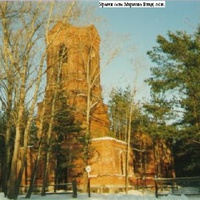 Казанский храм в селе Марково до восстановления. Февраль 1995г.