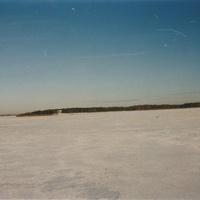 Озеро Богдаринское восточнее с. Марково. Февраль 1995г.