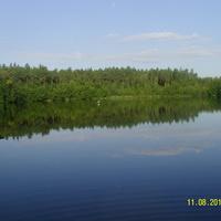 Озеро Пиявочное к северо-западу от д. Пушнино
