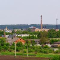 Александровка,вид на пгт с юго-восточной возвышенности.