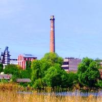 Александровка,вид на сахарный завод.Завод выпускает сахар с 1839 года.
