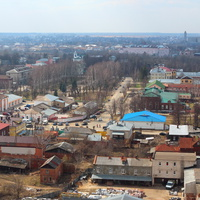 С колокольни. Центральная площадь, площадь Ленина.
