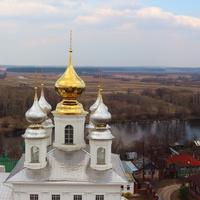 Золотые купола Воскресенского собора.