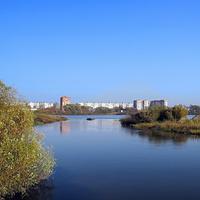 Река Клязьма перед городом
