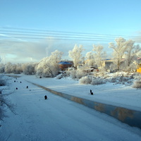 Река Клязьма зимой в районе мк\рн Мадонский