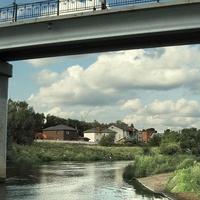Река Клязьма ниже пешеходного моста