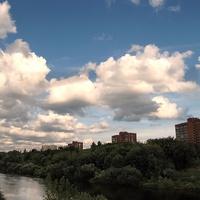 Река Клязьма летом  в районе мк\рн Мадонский