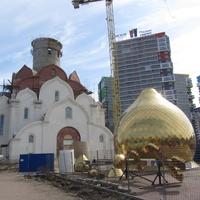 Кудрово. Церковь Иоанна Богослова строящаяся.