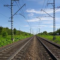 Железная дорога рядом с Большими Борницами
