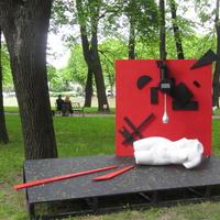 Проект «КУПАЛЬЩИЦА. XXI»  Чистые «истинные» цвета русского авангарда: красный, черный, белый.